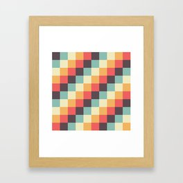 When dad was young - Pixel pattern in muted pastel colors Framed Art Print