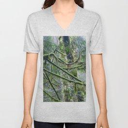 Mossy Branches Unisex V-Neck