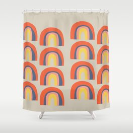 Rainbow Explosion Shower Curtain