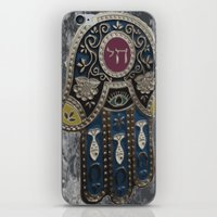jewish iPhone & iPod Skins featuring Jewish Hamsa by Debra Slonim Art & Design