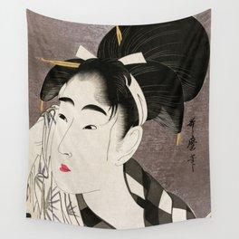 Kitagawa Utamaro, Japanese Woodblock Print Wall Tapestry