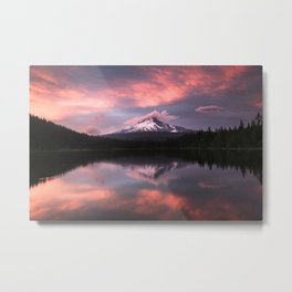 Mt Hood Sunset 6-20-18 Metal Print