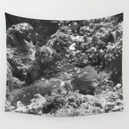 Octopus and its posse Wall Tapestry