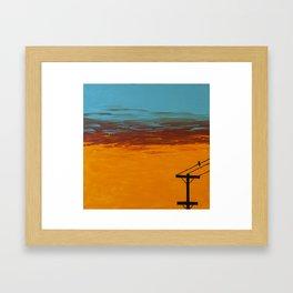 Bird On A Wire Framed Art Print