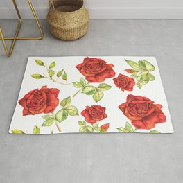 Rosarium in watercolor Rug