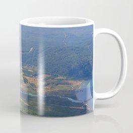 River, Tree and Mountain Landscape Coffee Mug