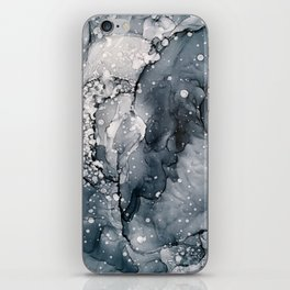 Icy Payne's Grey Abstract Bubble / Snow Painting iPhone Skin