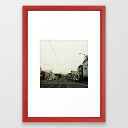 Foggy In The Sunset Framed Art Print