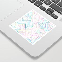90s Inspired Print // GEOMETRIC PASTEL BRIGHT SHAPES PATTERN GRAPHIC DESIGN Sticker