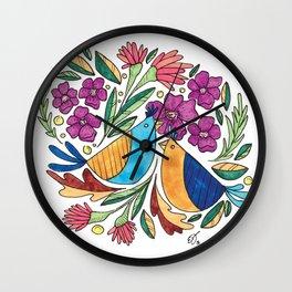 Birds & flore Wall Clock