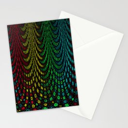 Curtains in abstract Stationery Cards