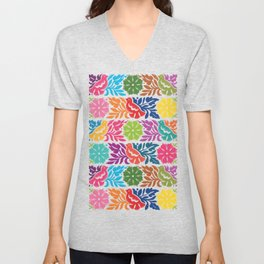 Chiapas Embroidery Unisex V-Neck
