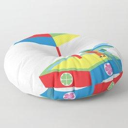 Hummingbird in a sandbox Floor Pillow