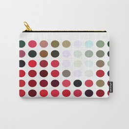 Mixed color Poinsettias 1 Dots Carry-All Pouch
