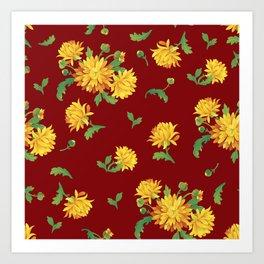 Autumn Chrysanthemums Art Print