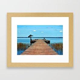 Sunbathing On The Dock Framed Art Print
