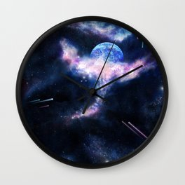 Space Scene Zero One Wall Clock
