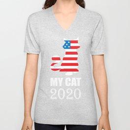 My Cat 2020 - Vote for My Cat Election Politics Unisex V-Neck