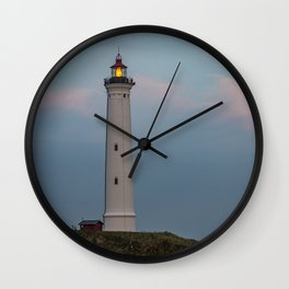 Lighthouse Sunset Landscape Wall Clock