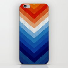Blue and red fashion pattern I iPhone & iPod Skin