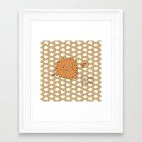 cookie Framed Art Prints featuring Cookie by EnelBosqueEncantado