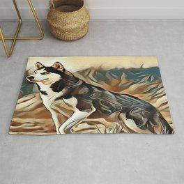 The Siberian Husky Rug