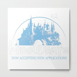 HarryPotter Funny Hogwarts Now Accepting Metal Print