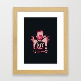 God of Death Shinigami Framed Art Print