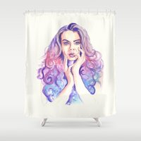 cara Shower Curtains featuring Cara Delevingne by Binkfloyd