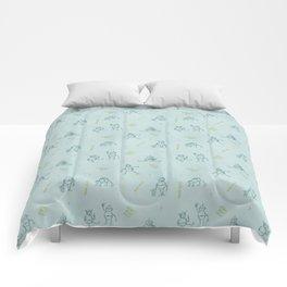 Robot Babies Captioned Comforters