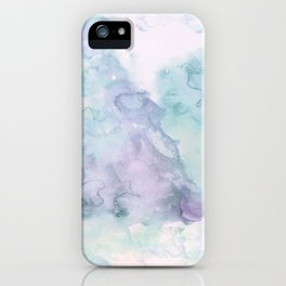 Pastel modern purple lavender hand painted watercolor wash iPhone Case