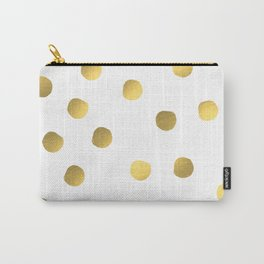 Painted spots of gold Carry-All Pouch