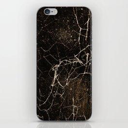 Spider Web Print Grunge Dark Texture iPhone Skin