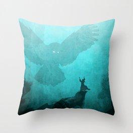 Owl Summoner Throw Pillow