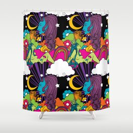 The Garden of Intergalactic Delights Shower Curtain
