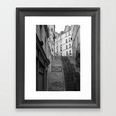 Climbing Paris Framed Art Print