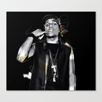 asap rocky Canvas Prints featuring ASAP Illustration by Aymsdesigns