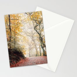 Path through the Autumn Forest Stationery Cards