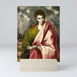 "El Greco (Domenikos Theotokopoulos) ""Saint John the Evangelist"" Mini Art Print"