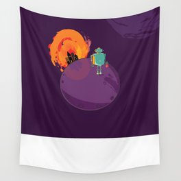 Robot's Day Out Wall Tapestry