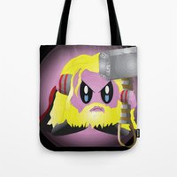 kirby Tote Bags featuring Kirby Odinson by sarahbevan11