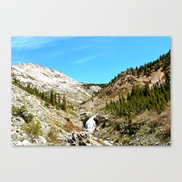 Sierra Nevada Waterfalls  Canvas Print