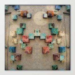 Toppled Ceramic Tiling 1 Canvas Print