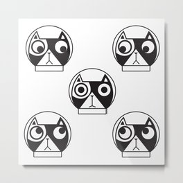 We are watching you. MEOW!!! (Space Cat) Metal Print