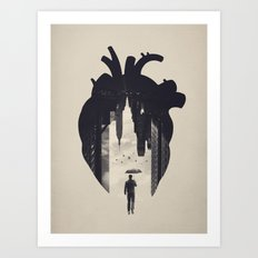 In the Heart of the City Art Print