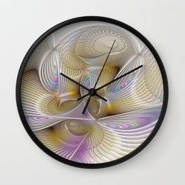Place of Fantasy, Abstract Fractal Art Wall Clock