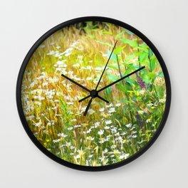 Field of Daisies Wall Clock