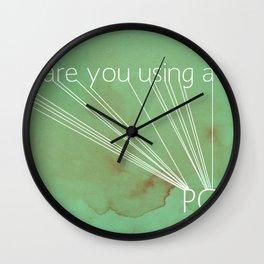 Mac Snob Wall Clock