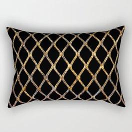 Rusty Corrugated Mesh Rectangular Pillow