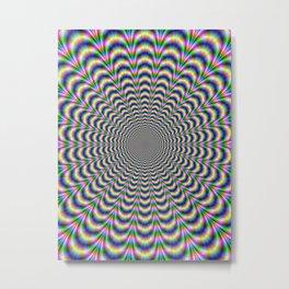 Neon Pulse Metal Print